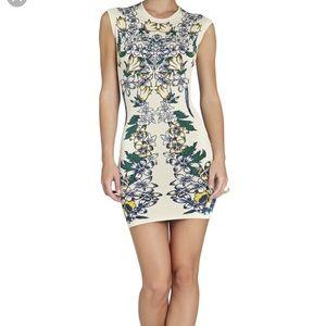 BCBG MaxAzria Ellena Luxe Floral Jacquard Dress
